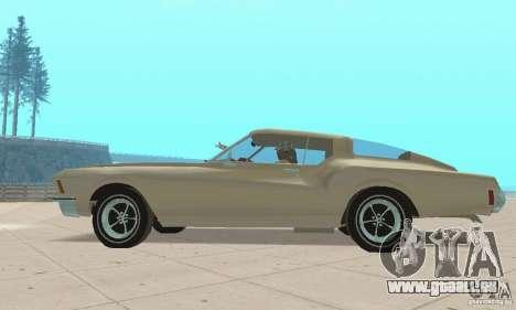 Buick Riviera 1972 Boattail pour GTA San Andreas sur la vue arrière gauche