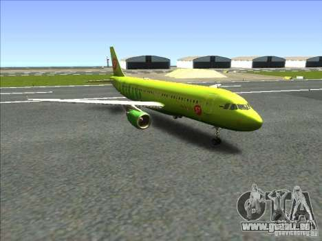 Airbus A-320 S7Airlines pour GTA San Andreas sur la vue arrière gauche