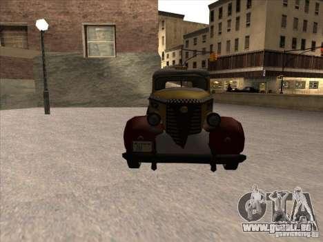 Shubert TAXI Mafia 2 für GTA San Andreas Rückansicht