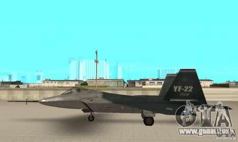YF-22 Standart pour GTA San Andreas laissé vue