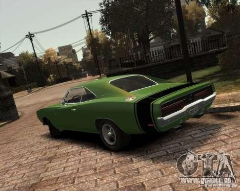 Dodge  Charger 1969 pour GTA 4 Vue arrière