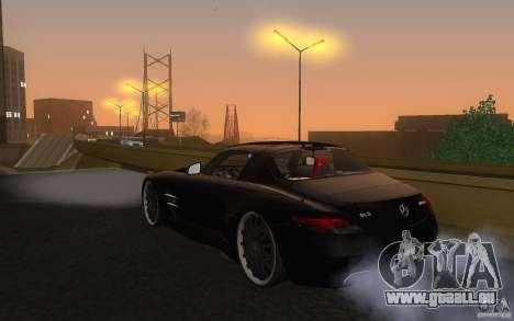 Mercedes Benz SLS HAMANN für GTA San Andreas zurück linke Ansicht