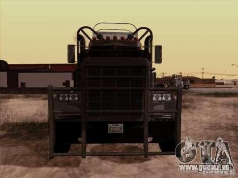 Peterbilt 359 Day Cab pour GTA San Andreas laissé vue