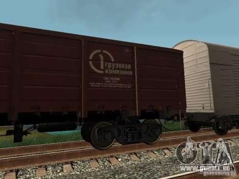 Société cargo wagon ouvert pour GTA San Andreas laissé vue