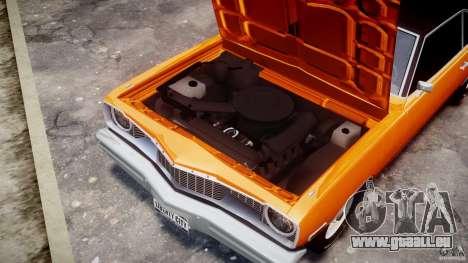 Dodge Dart GT 1975 [Final] pour GTA 4 est une vue de l'intérieur
