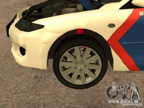 Mazda 6 Police Indonesia pour GTA San Andreas vue intérieure