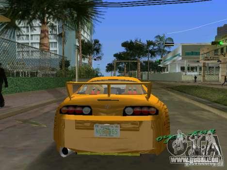 Toyota Supra pour une vue GTA Vice City de la gauche