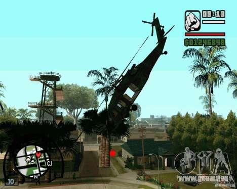 Blackhawk UH60 Heli pour GTA San Andreas laissé vue