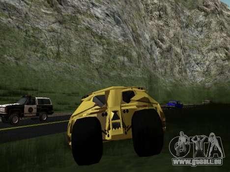 Army Tumbler v2.0 pour GTA San Andreas vue intérieure