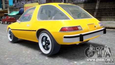 AMC Pacer 1977 v1.0 pour GTA 4 Vue arrière de la gauche