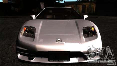 Acura NSX Stock pour GTA San Andreas vue intérieure