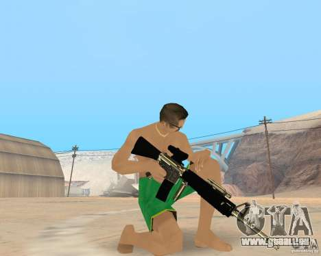 Gold weapons pack für GTA San Andreas