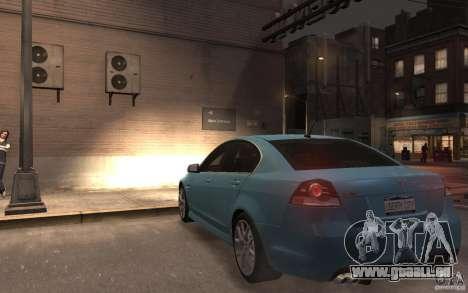 Pontiac G8 GXP pour GTA 4 Vue arrière de la gauche