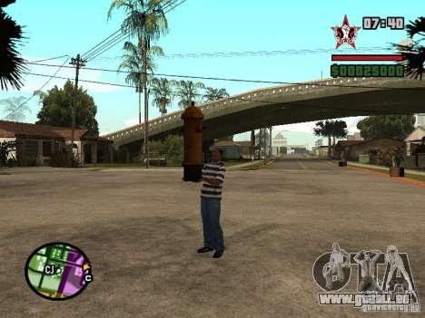 CJ-kleptomane pour GTA San Andreas deuxième écran