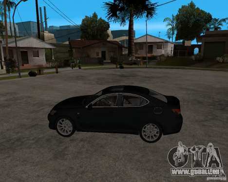 Lexus IS-F v2.0 pour GTA San Andreas laissé vue