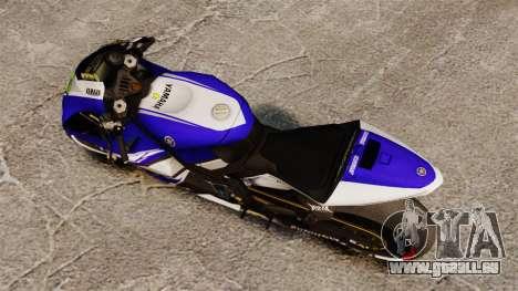 Yamaha YZR-M1 für GTA 4 hinten links Ansicht