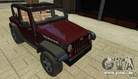 Jeep Wrangler Rubicon 2012 pour GTA 4 est un côté