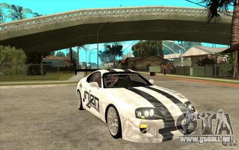 Toyota Supra MK-4 pour GTA San Andreas vue arrière