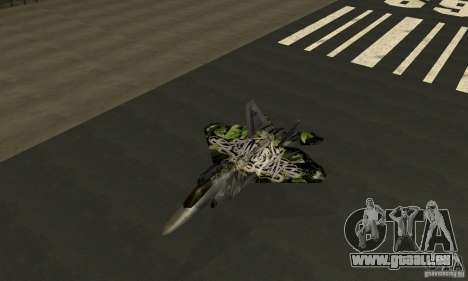 F-22 Raptor Graffity Skin 2 für GTA San Andreas
