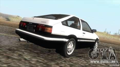 Toyota Sprinter Trueno AE86 GT-Apex pour GTA San Andreas vue de droite