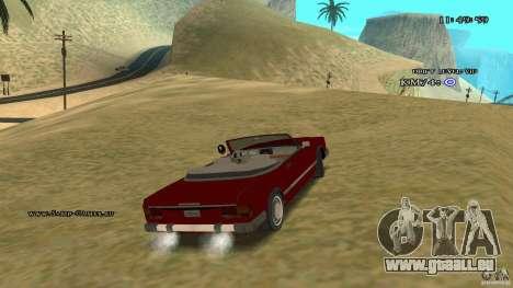 Feltzer HD pour GTA San Andreas vue intérieure