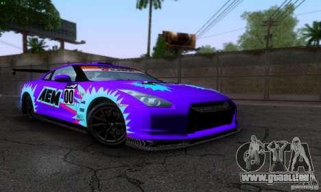 Nissan GTR R35 Tuneable für GTA San Andreas