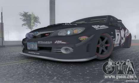 2008 Subaru Impreza Tuneable pour GTA San Andreas vue de dessous