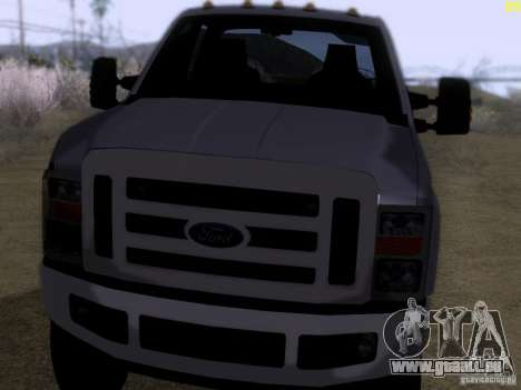 Ford F350 Super Dute pour GTA San Andreas laissé vue