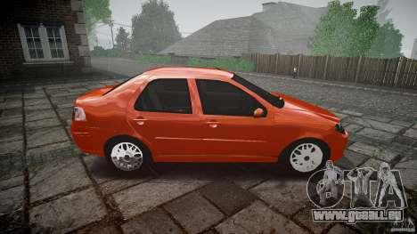 Fiat Albea Sole für GTA 4 Innenansicht
