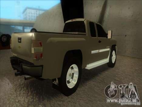 Chevrolet Silverado 3500 pour GTA San Andreas laissé vue