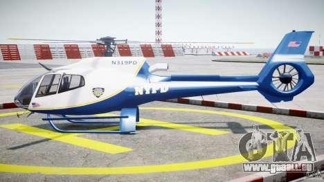 Eurocopter EC 130 NYPD pour GTA 4 est une gauche
