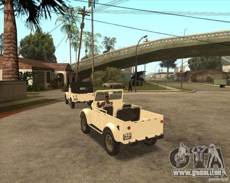 GAZ 69 A pour GTA San Andreas vue de droite