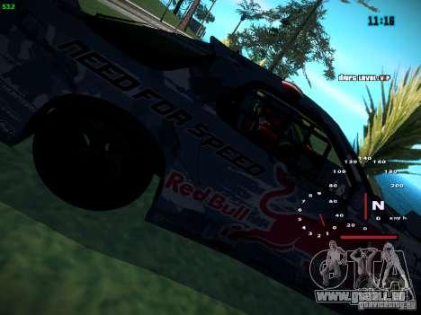Mazda RX-7 Mad Mike pour GTA San Andreas sur la vue arrière gauche