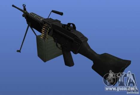 Mitrailleuse M249SAW pour GTA 4 secondes d'écran