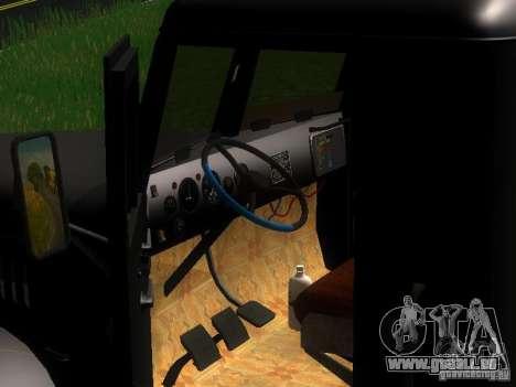 KrAZ-254 für GTA San Andreas Unteransicht