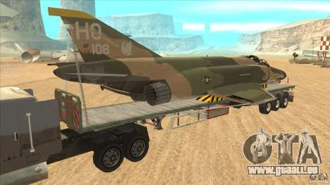 Flatbed trailer with dismantled F-4E Phantom pour GTA San Andreas