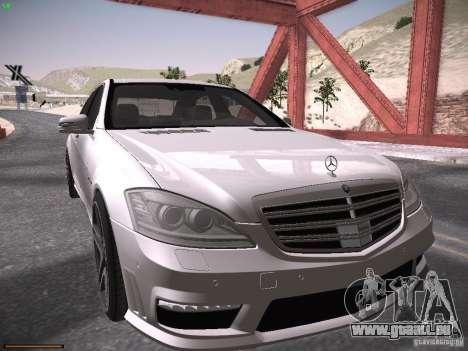 Mercedes Benz S65 AMG 2012 pour GTA San Andreas laissé vue