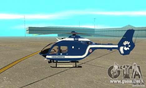 EC-135 Gendarmerie pour GTA San Andreas sur la vue arrière gauche