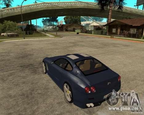 Ferrari 612 Kappa pour GTA San Andreas laissé vue