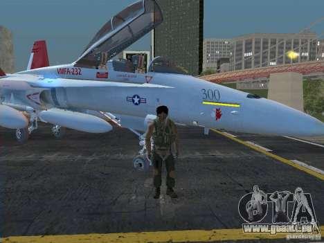 FA-18D Hornet pour GTA San Andreas sur la vue arrière gauche