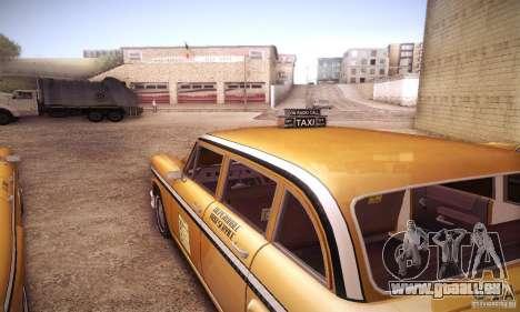 Cabbie HD pour GTA San Andreas vue arrière