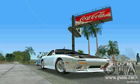 Mazda Savanna RX-7 FC3S für GTA Vice City Rückansicht