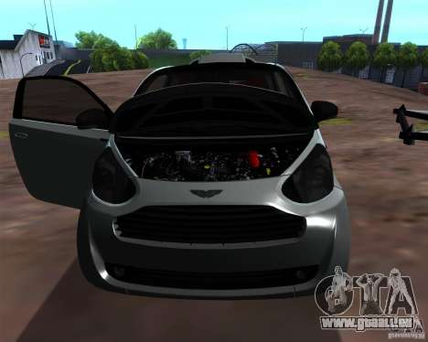 Aston Martin Cygnet für GTA San Andreas Rückansicht
