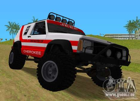 Jeep Cherokee 1984 Sandking pour GTA Vice City