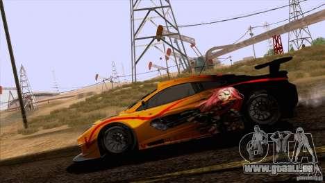 Peinture fonctionne McLaren MP4-12 c Speedhunter pour GTA San Andreas vue intérieure