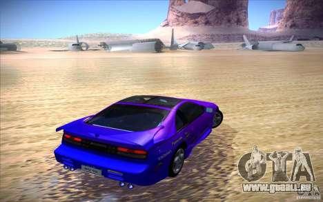Nissan 300ZX Twin Turbo pour GTA San Andreas vue de dessus