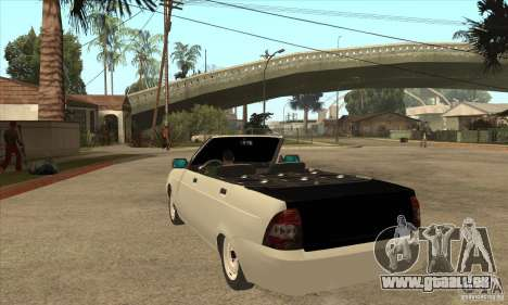 VAZ LADA Priora convertible pour GTA San Andreas sur la vue arrière gauche