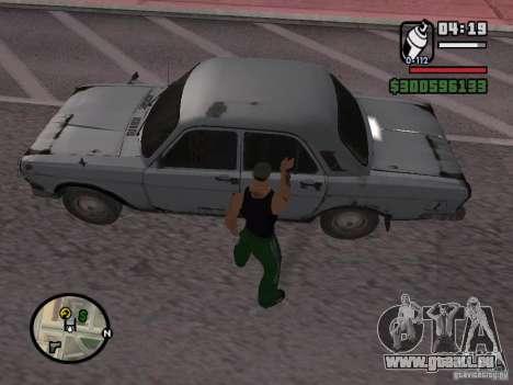 Repeindre de l'actionneur pour GTA San Andreas deuxième écran