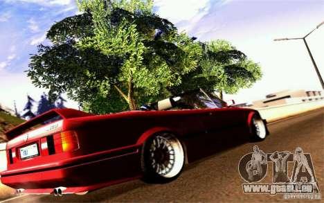 BMW E30 M3 Cabrio pour GTA San Andreas vue de droite