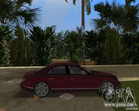 Maybach 57 pour GTA Vice City vue arrière